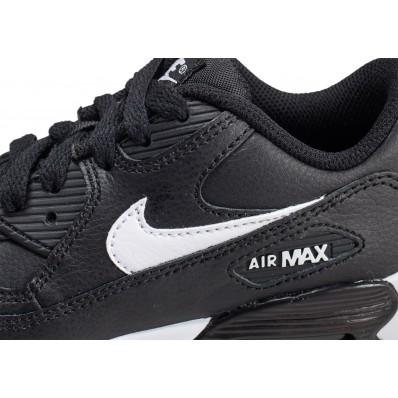 air max 90 leather noire et blanche enfant