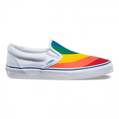 vans slip on rainbow