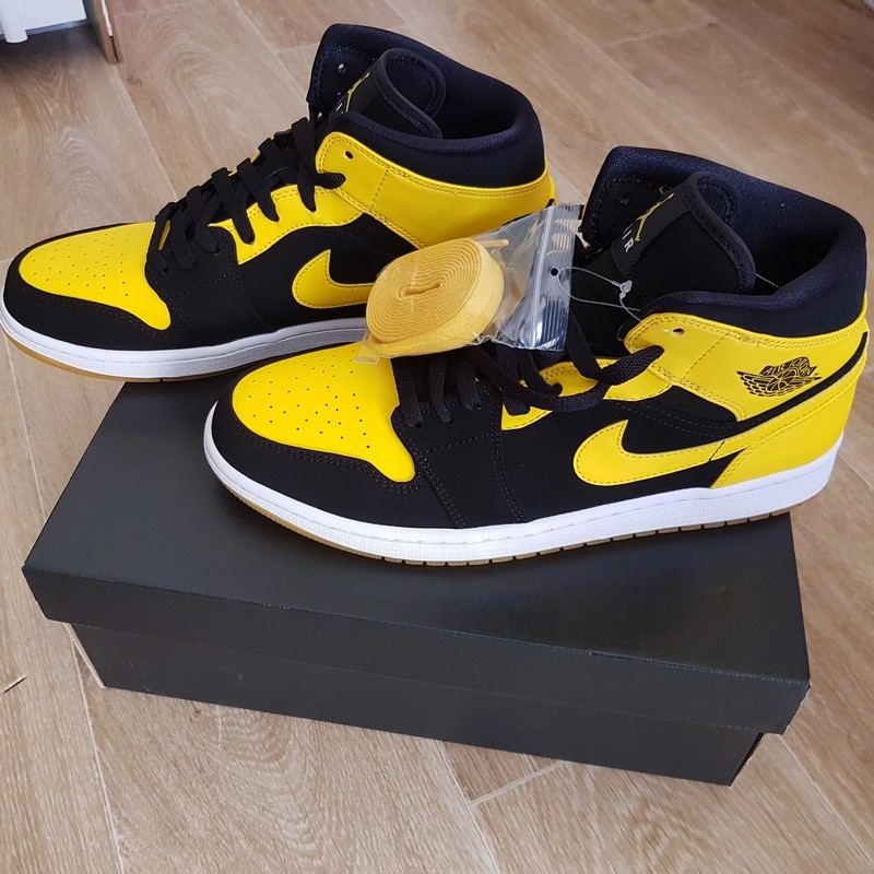 air jordan 1 retro noir et jaune