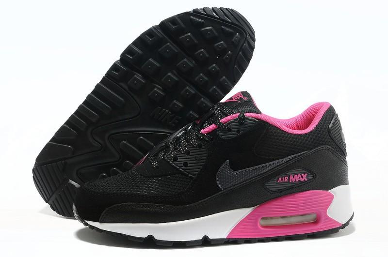air max femme noir et rose