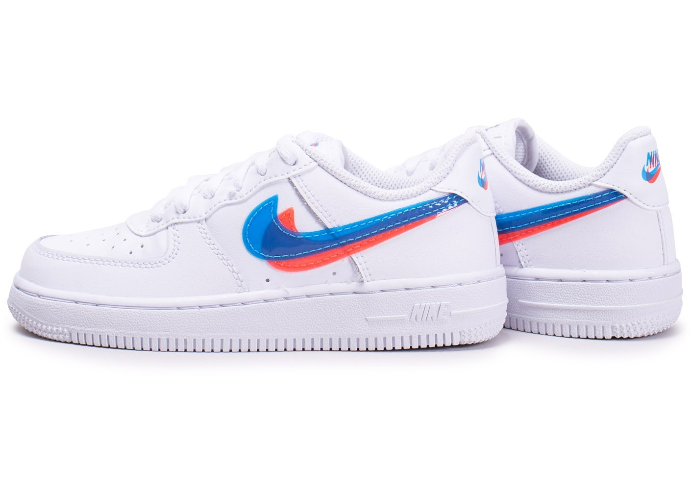 air force 1 blanche bleu rouge