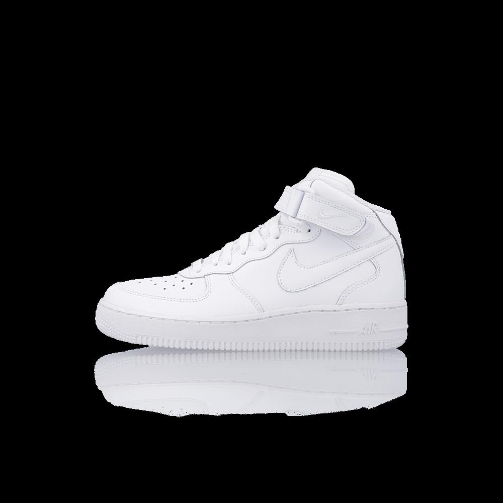baskets nike air force 1 mid gs blanc