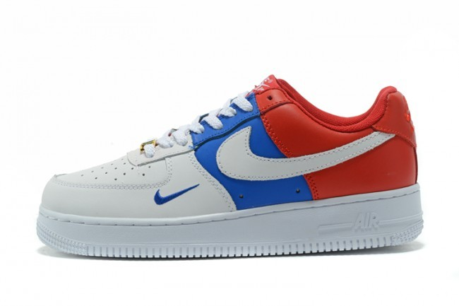 nike air force 1 bleu rouge