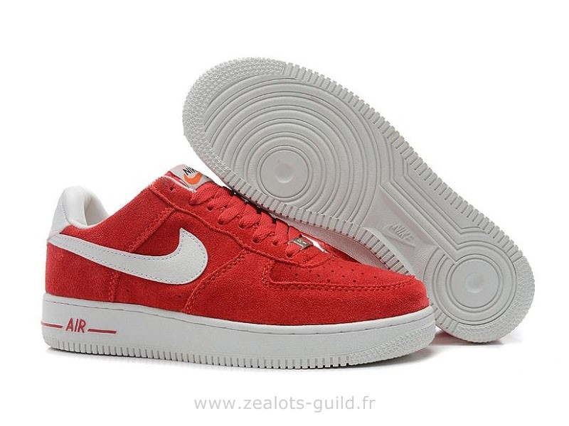 nike air force 1 homme blanche et rouge