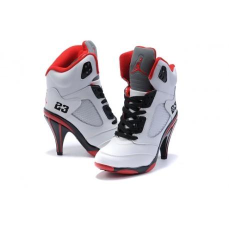 nike jordan femme noir et rouge