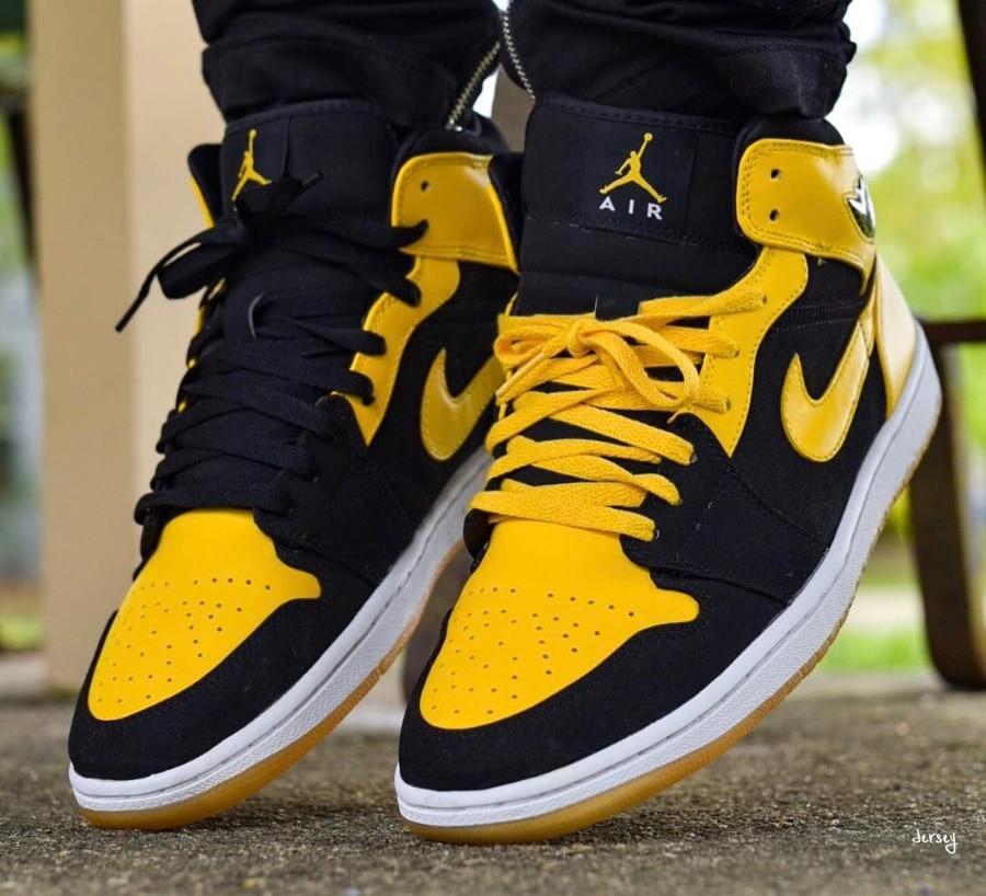 air jordan noire et jaune