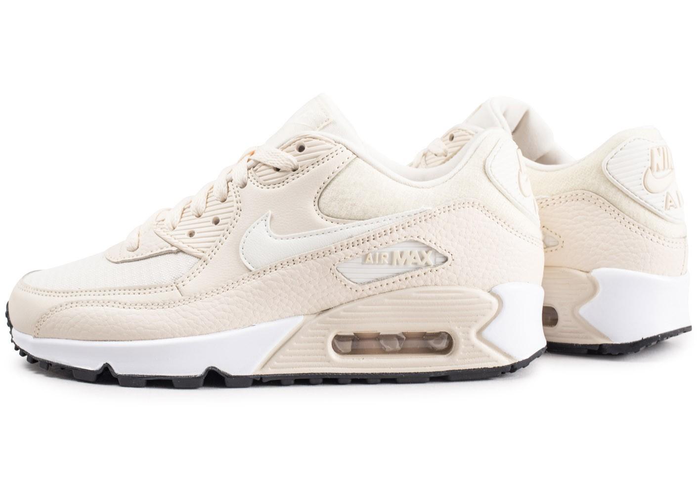 Nike Air Max 90 Premium beige Chaussures Baskets femme