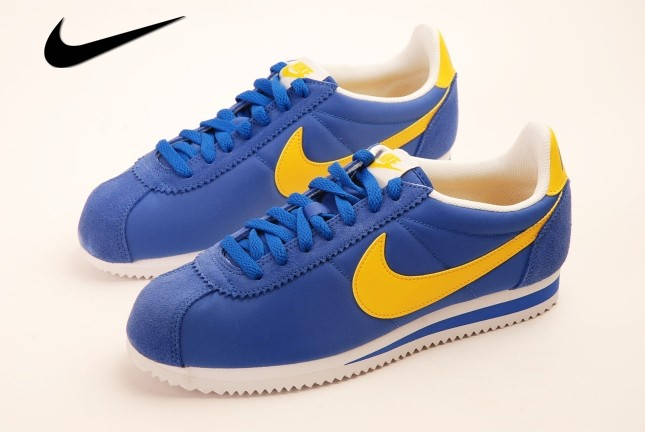 chaussure homme nike cortez bleu blac