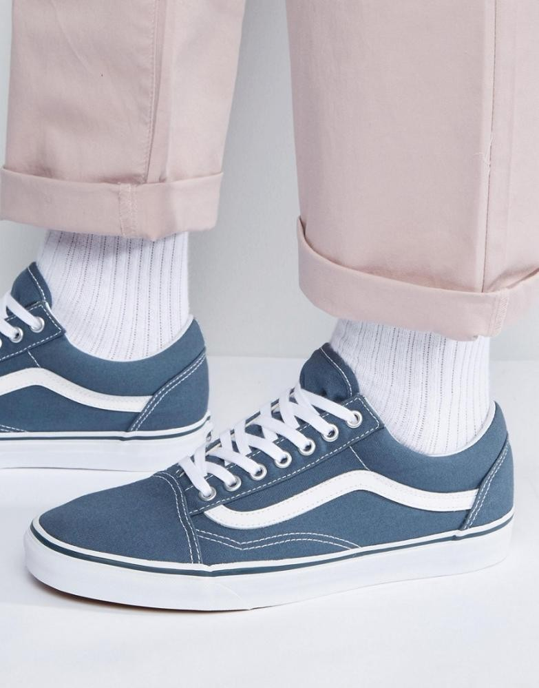 old skool vans bleu
