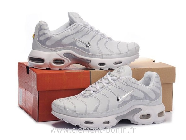nike tn blanche et or
