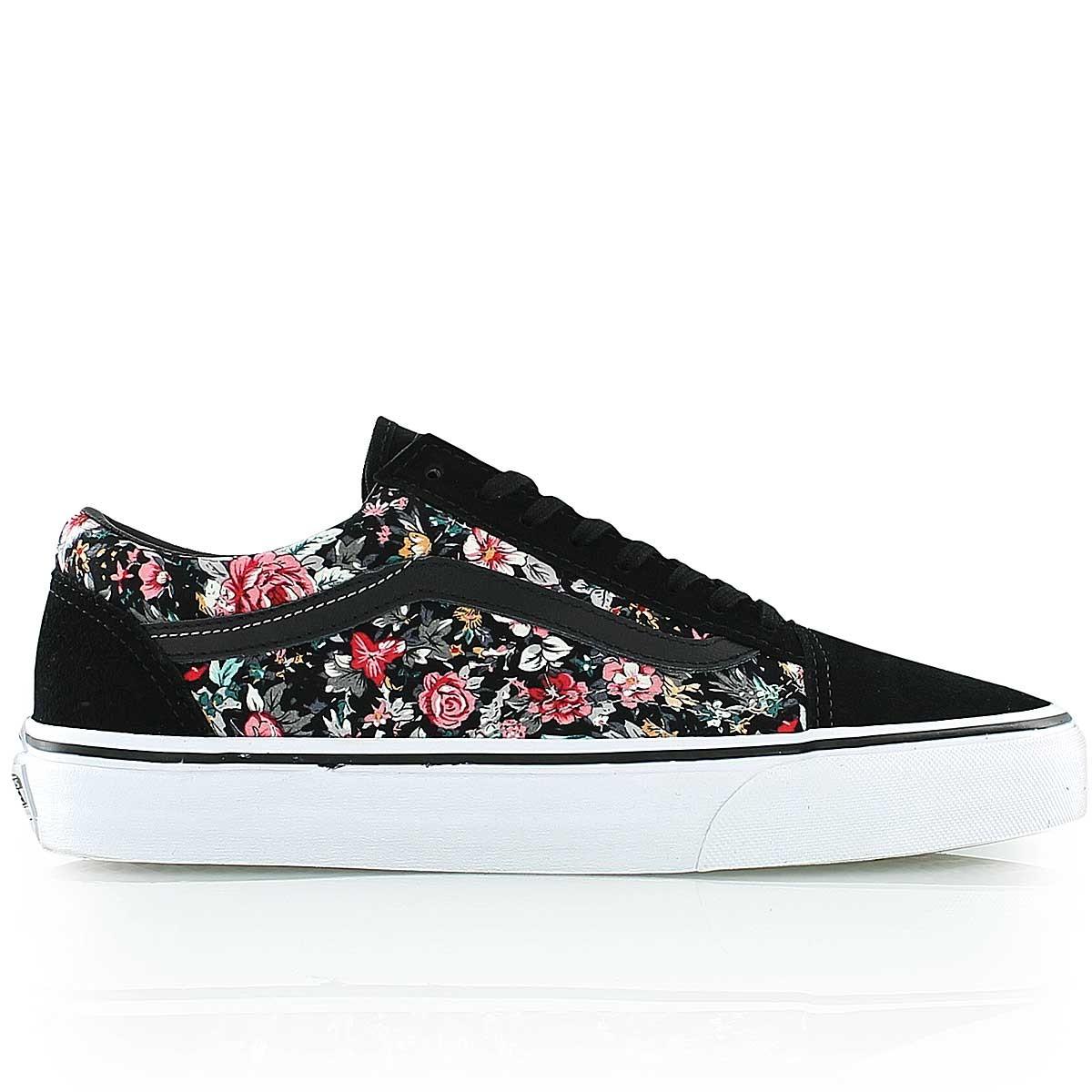 chaussure vans avec des fleurs