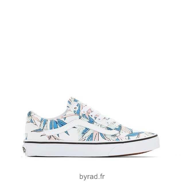 chaussures vans fleurie femme