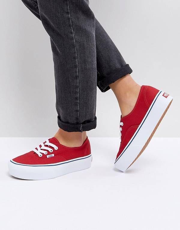 vans chaussure femme rouge