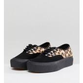 vans platform leopard
