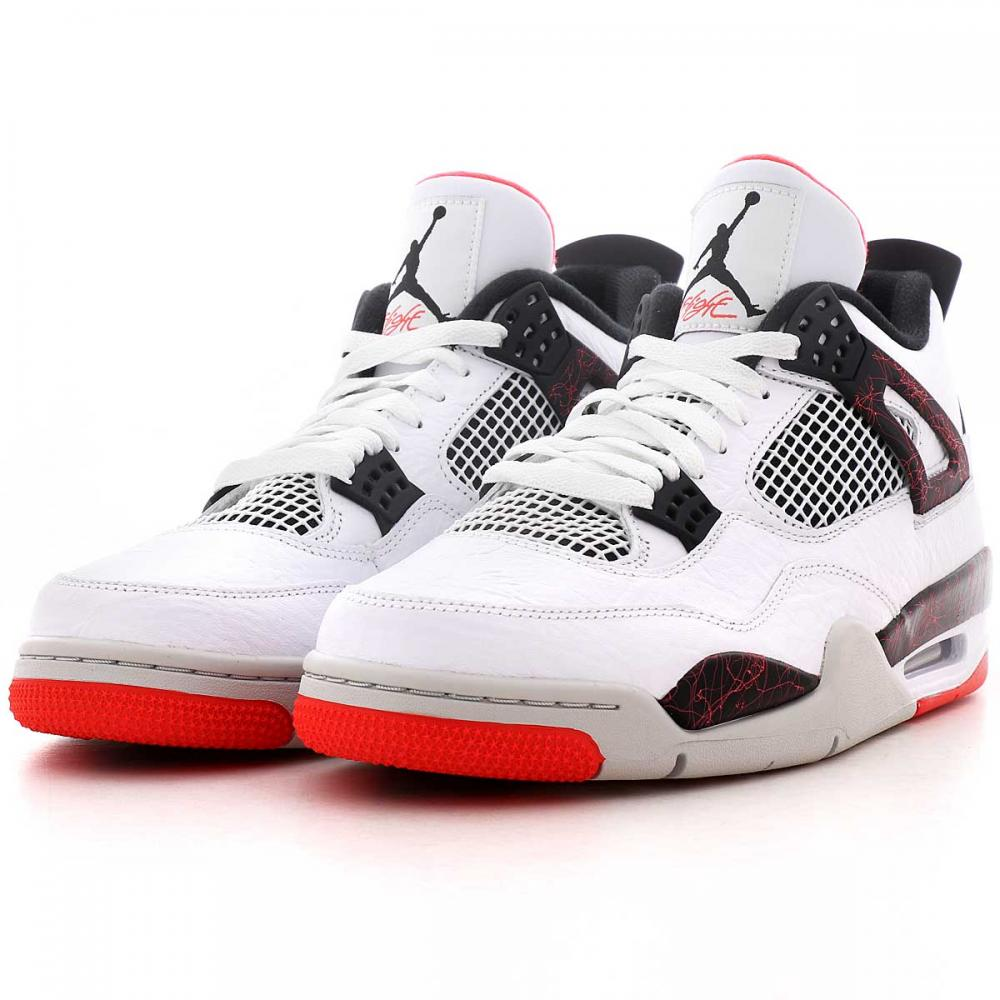 air jordan 4 retro blanc et rouge