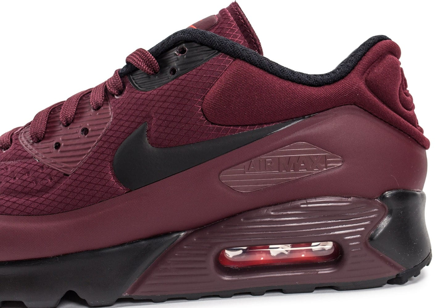 Nike Air Max 90 Ultra SE bordeaux Chaussures Baskets homme