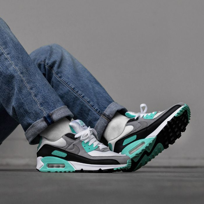 Nike Air Max 90 Women whiteparticle greyhyper turquoise